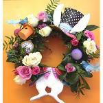 How To Make an Easter Bunny Wreath #ChallengeDana