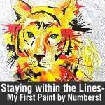 Staying within the Lines- My First paint by numbers!