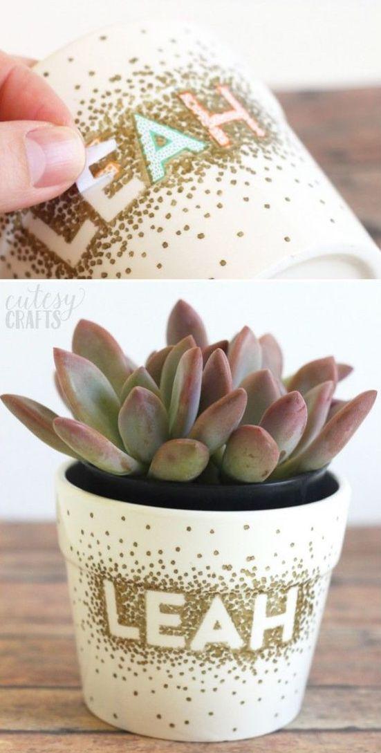 DIY gift plant pot