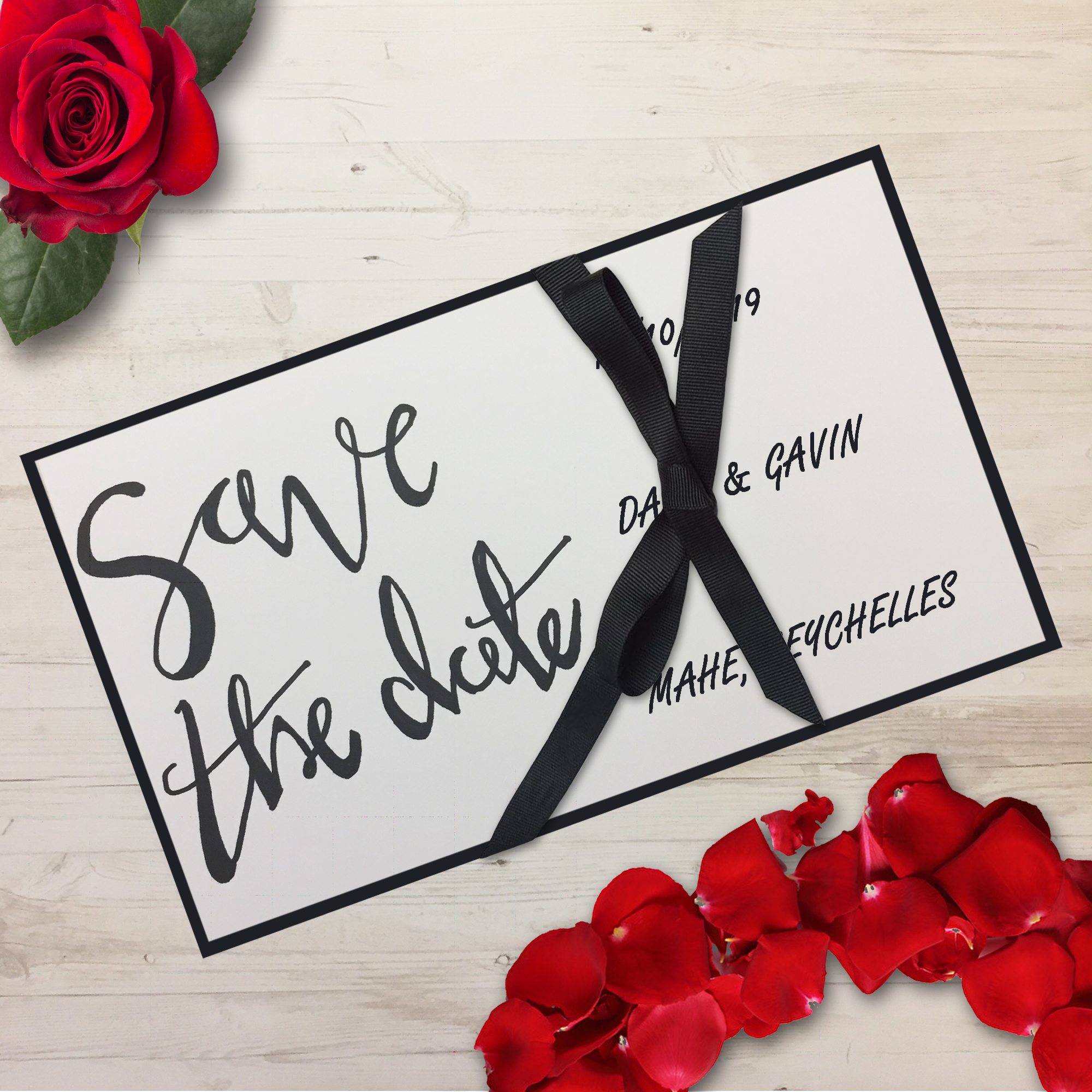 How to Make your Own Save The Date Cards | be creative daily!