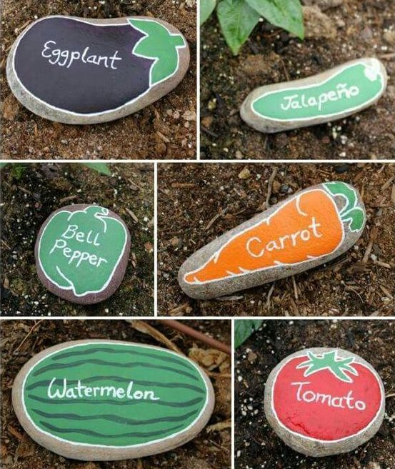 rock painting ideas vegetables