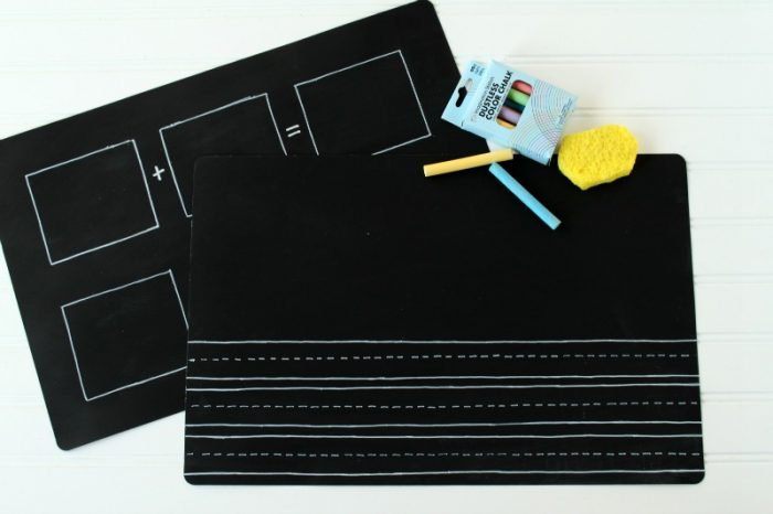 diy back to school craft placemat