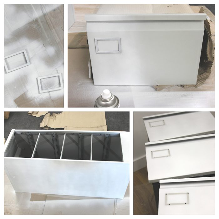 how to decoupage furniture filing cabinet