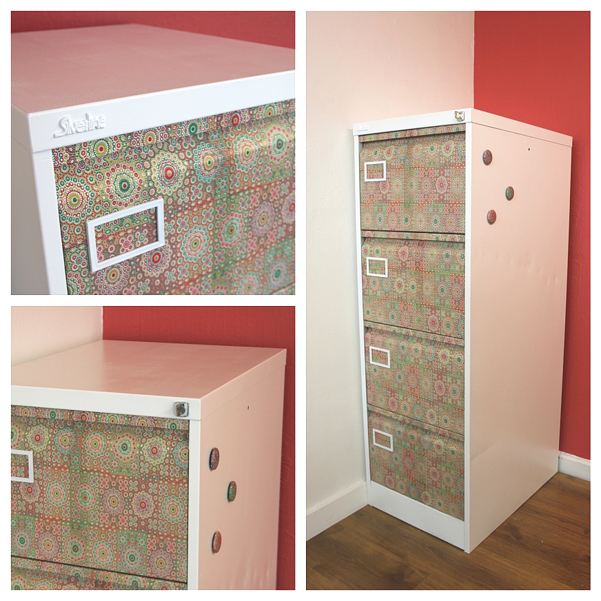 How to Decoupage Furniture Upcycling the Old Filing Cabinet