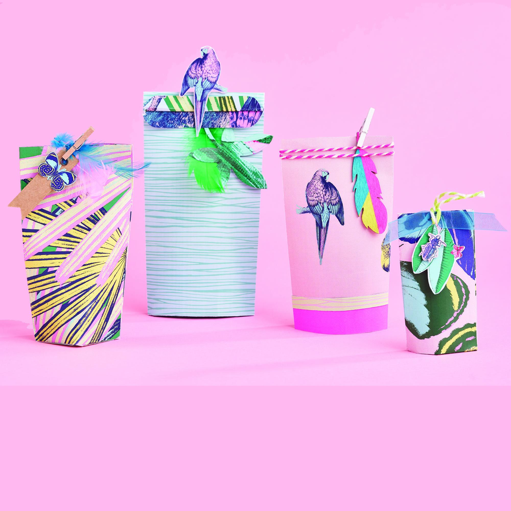 Gift bags using 'Hot Tropics' printer paper