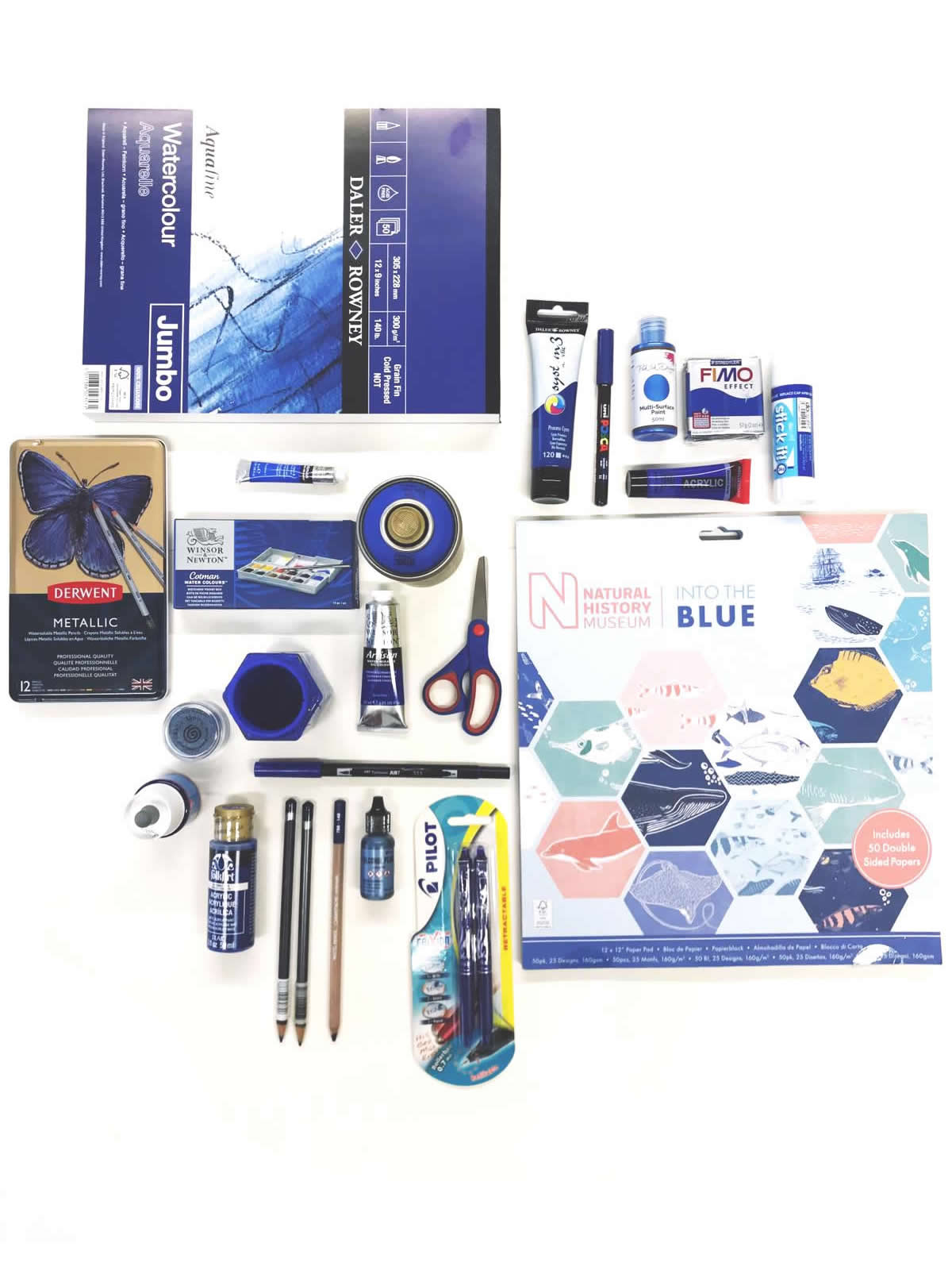 classic blue, classic blue art supplies