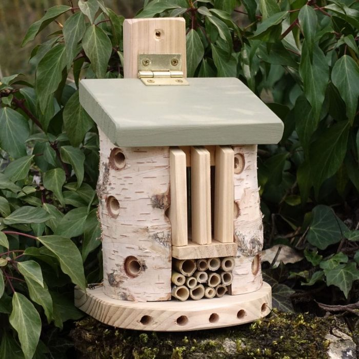 Friendly Bee and Bug Barn for garden insects