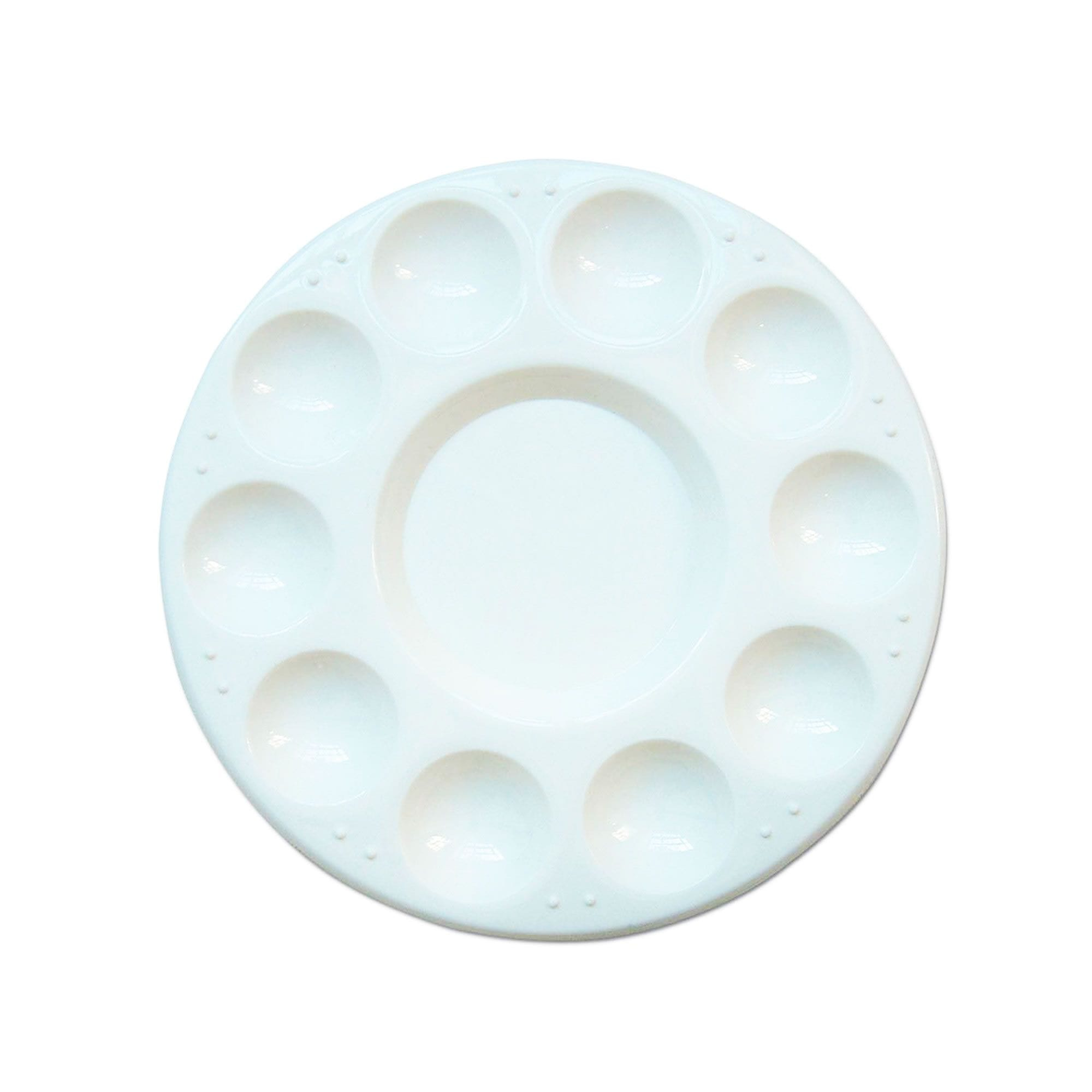 Royal and Langnickel Plastic 10 Well Oval Paint Palette