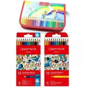 24 Pencils and Pencil Case Bundle