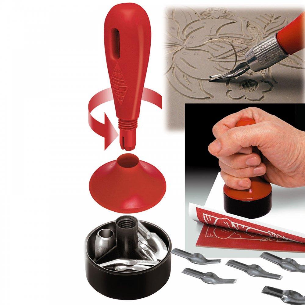 3 in 1 lino cutter & stamp carving kit**^ craftyarts.co.uk