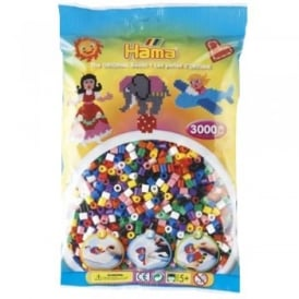 3000 Solid Mix Hama Beads Bag