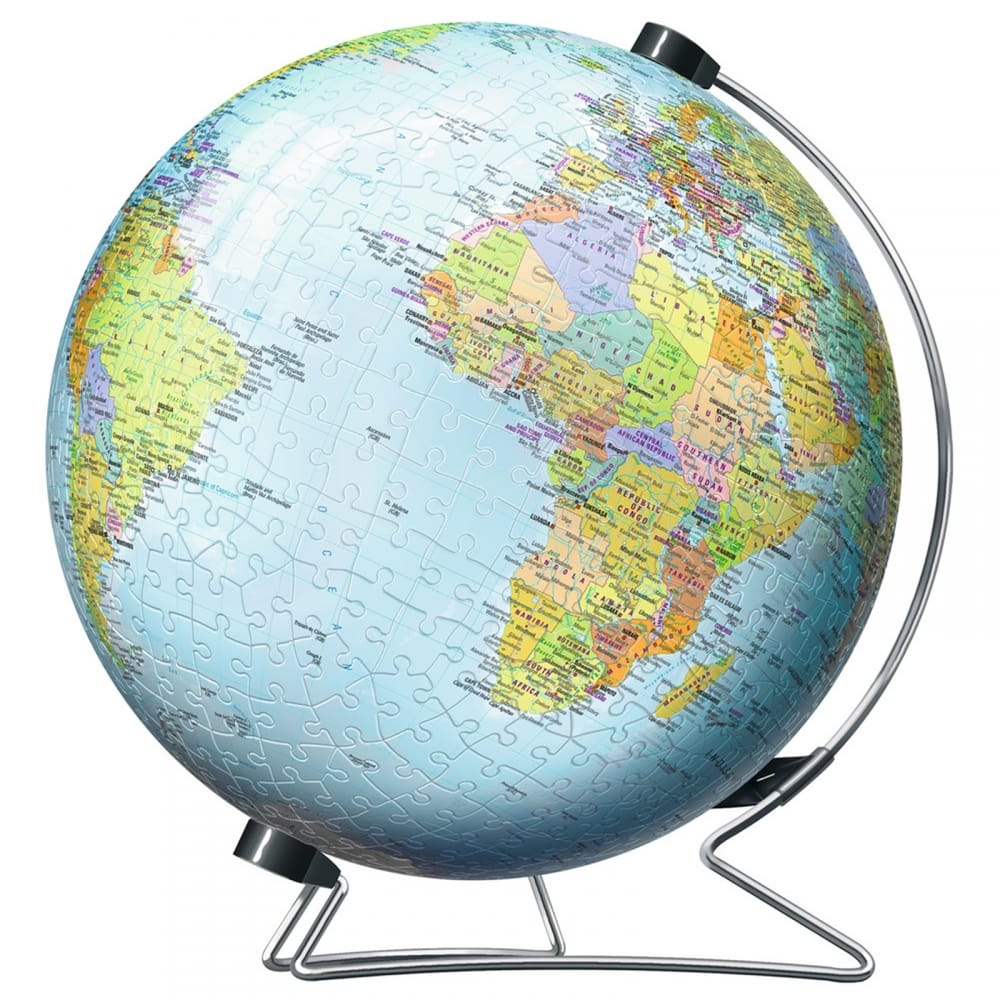 3d world globe puzzle stand 540 piece puzzle craftyarts 3d world globe puzzle amp stand 540 piece puzzle gumiabroncs Image collections