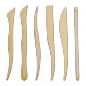 "6"" Potters Select Wooden Sculpting Tools"
