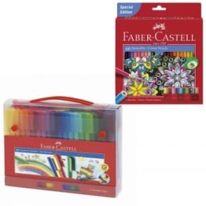 60 Coloured Pencils 60 Felt Tip Pens Bundle