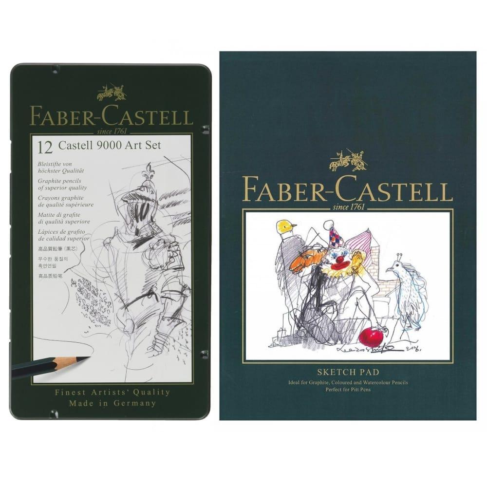 Faber Castell 9000 Drawing Pencil Art Tin Set