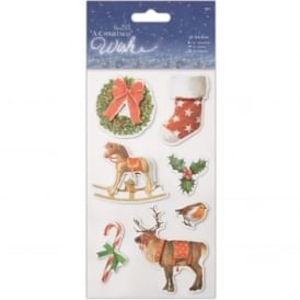 A Christmas Wish 3D Stickers