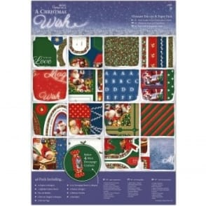 A Christmas Wish A4 Ultimate Die Cut Paper Pack