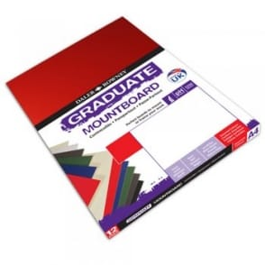 A2 Graduate Mount Board Assorted Colours [Pack of 5]