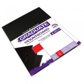 A2 Graduate Mount Board Black [Pack of 5]