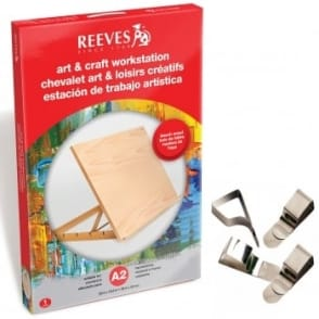 A2 Workstation Easel & Multipurpose Drawing Board Clips Set