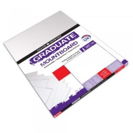 A3 Graduate Mount Board Ice White [Pack of 8]