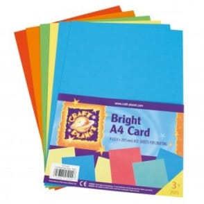 A4 Card Brights (6 Pack)