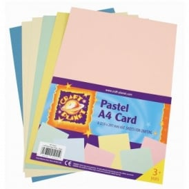 A4 Card Pastels (6 Pack)