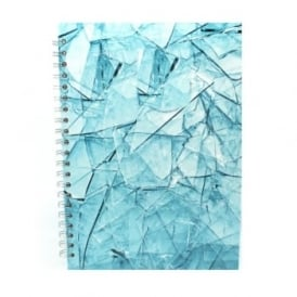 A4 Cracked Glass Portrait Spiral Sketch Pad