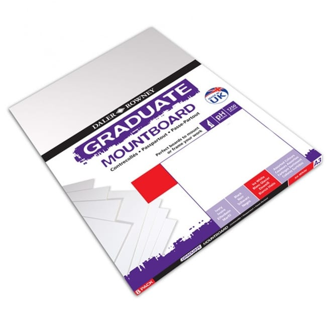 A4 Graduate Mount Board Ice White [Pack of 12]