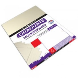 A4 Graduate Mount Board Ivory [Pack of 12]