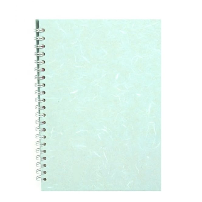A4 Silk Pale Blue Portrait Spiral Sketch Pad