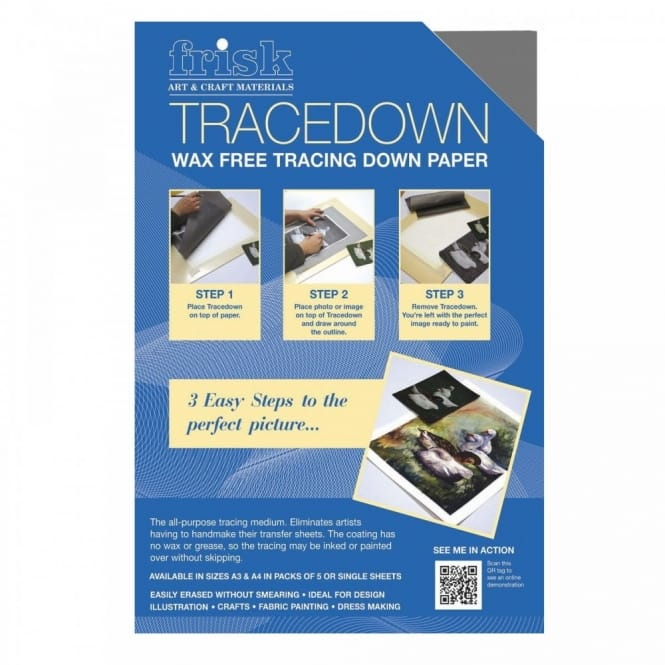 A4 Tracedown Pack of 5 Graphite
