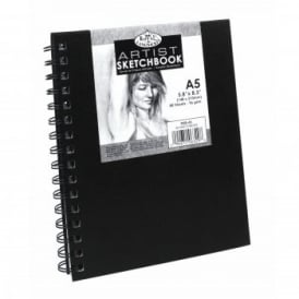 A5 Sketchbook with Spiral Side (80 Sheets)