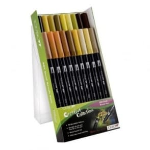 ABT Dual Blendable Brush Pen Earth - 18 Pack