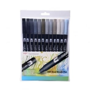 ABT Dual Blendable Brush Pen Grey -12 Pack