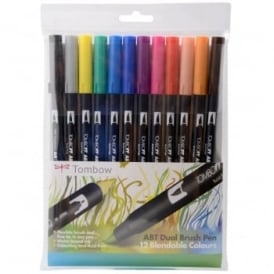 ABT Dual Blendable Brush Pen Primary -12 Pack