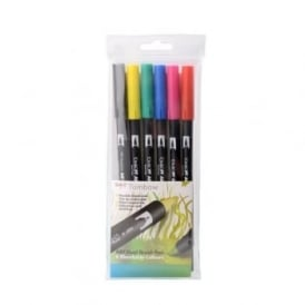 ABT Dual Blendable Brush Pen Primary - 6 Pack