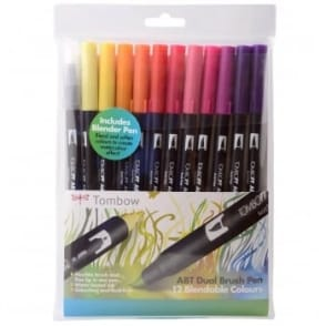 ABT Dual Blendable Brush Pen Sunset -11 Pack plus Blender