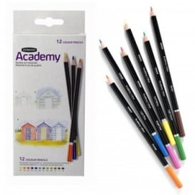 Academy 12 Colouring Pencils Carton