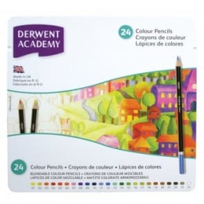 Academy Colouring Pencils 24 Tin