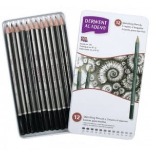 Academy Sketching Pencils 12 Tin