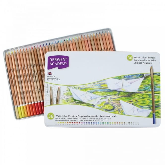 Academy Watercolour Pencils 36 Tin
