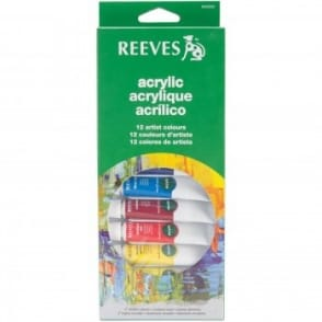 Acrylic Paint Set Of 12 Tubes