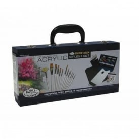 Acrylic Wooden Box With Brush Set