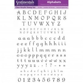 Alphabets : Clear Acrylic Stamp Set