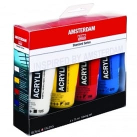 Amsterdam Acrylic Paint Mixing Set - 4 x 75ml