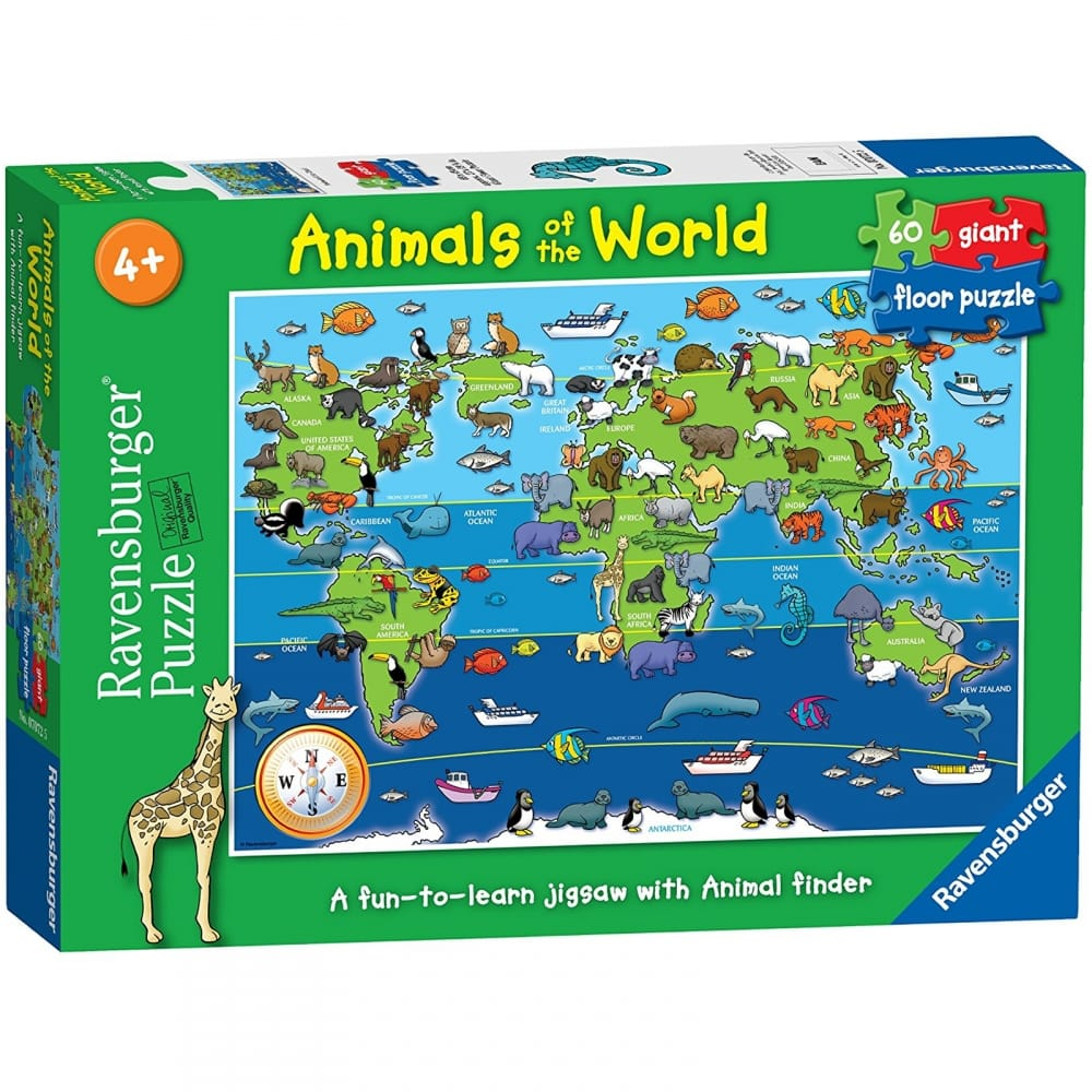 Animals Of The World Giant Floor 60 Piece Puzzle