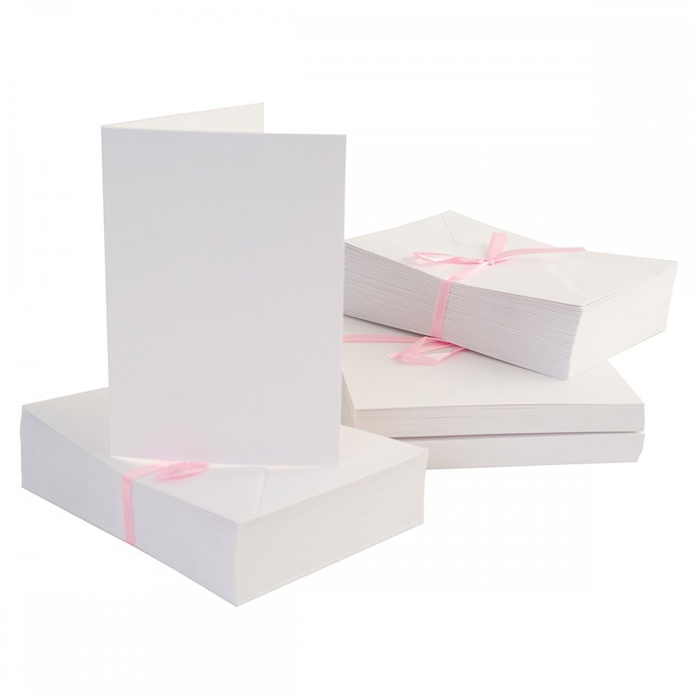 Anita 39 S 100 Pack Blank Cards And Envelopes White A6 105 X
