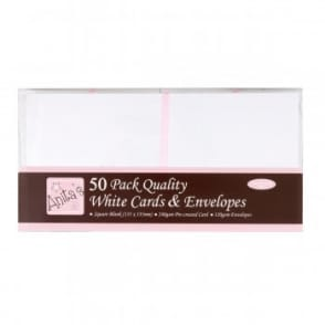 Anita's 50 Pack Quality Blank Cards White Square (135 x 135mm)