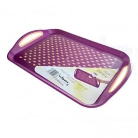 Anti Slip Plastic Serving Tray (Assorted Colours)